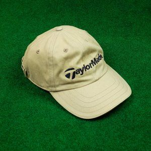 Taylormade Khaki Dad Hat w/ Black Trim